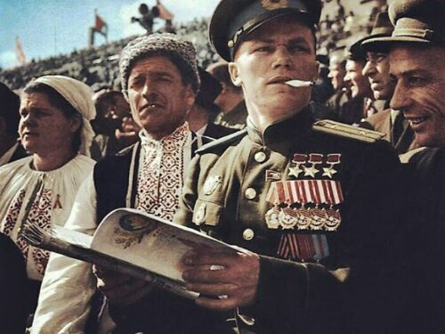 Tre volte Eroe dell'URSS, Maresciallo dell'aria Ivan Nikitovich Kozhedub